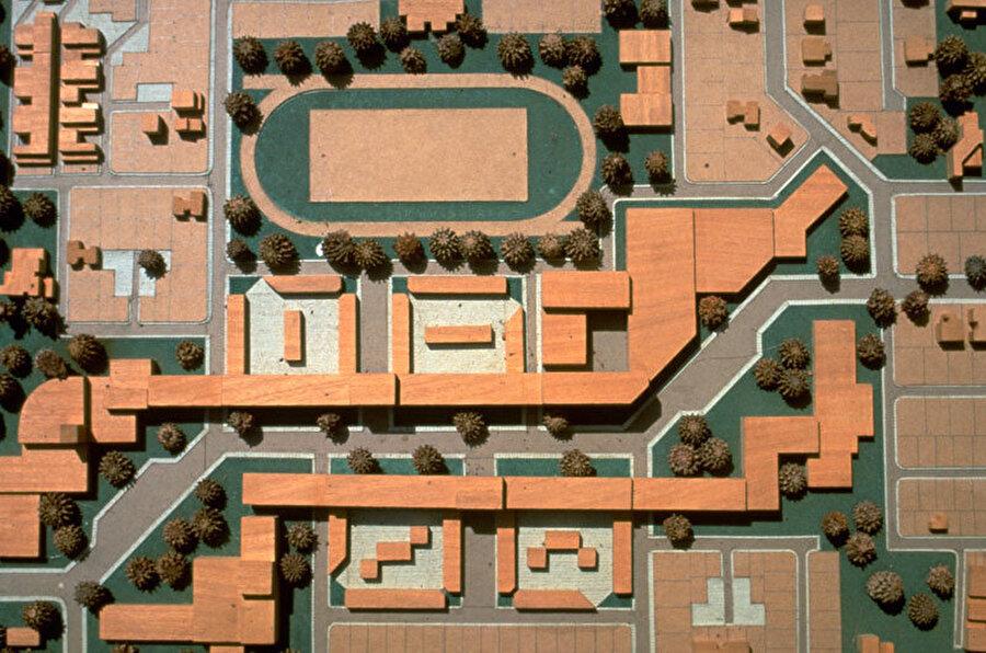 Aranya Toplum Konutları, Vastu-Shilpa Vakfı, Indore, Hindistan (1995).
