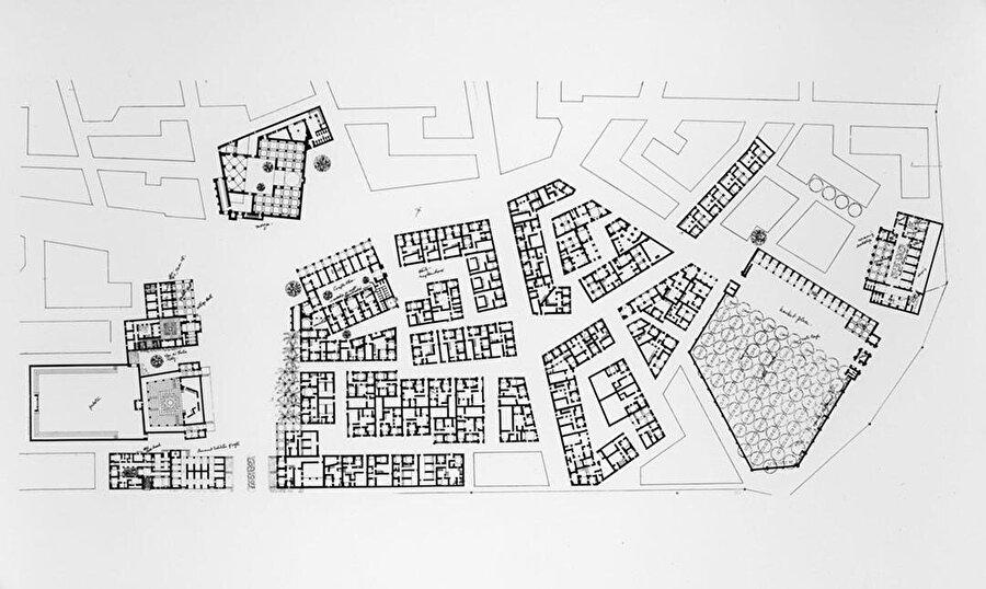 Yeni Gourna köyünün planı.