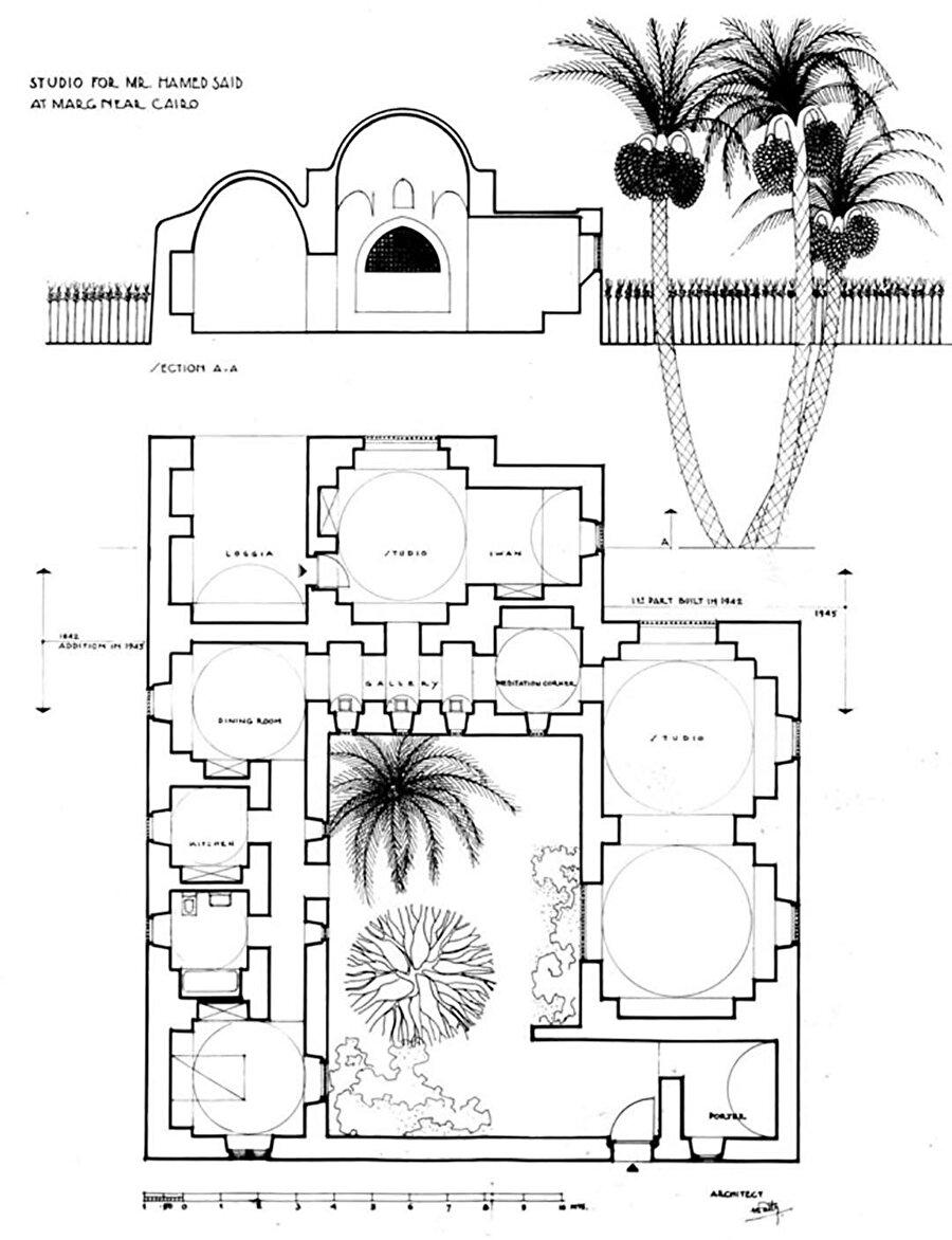 Hamed Said Evi (1954), Kahire'nin el-Marg semtinde yer alıyor ve Fathy'nin tüm projeleri arasında önemli bir projeyi temsil ediyor. Çünkü kerpiç inşaatın ilk belgelenmiş uygulaması ve hala ayakta.