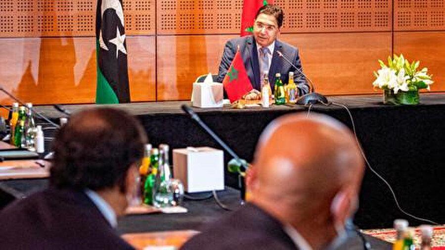 """Serrac, Fas'ın Buznika kentinde 6-10 Eylül tarihlerinde düzenlenen ve Libya krizindeki siyasi tarafları bir araya getiren """"Libya Diyaloğu"""" görüşmelerine değindi."""