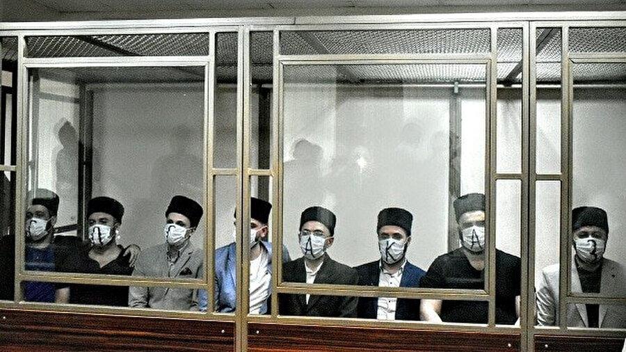 7 Kırım Tatarı hakkında önceki gün 13 yıldan 19 yıla kadar hapis cezası verildi.