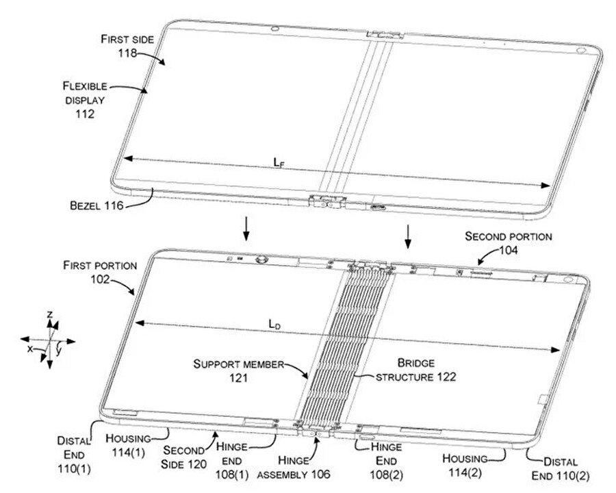 Bu tasarımda alt kısımdaki 3.5 mm'lik kulaklık çıkışı ve USB Type-C arabirimi de görülebiliyor.