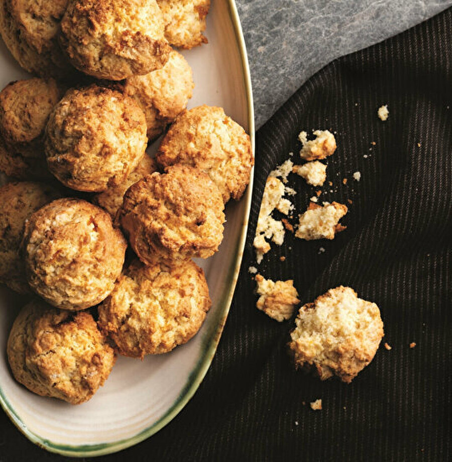 Portakal ve Hindistan cevizli kurabiye tarifi.