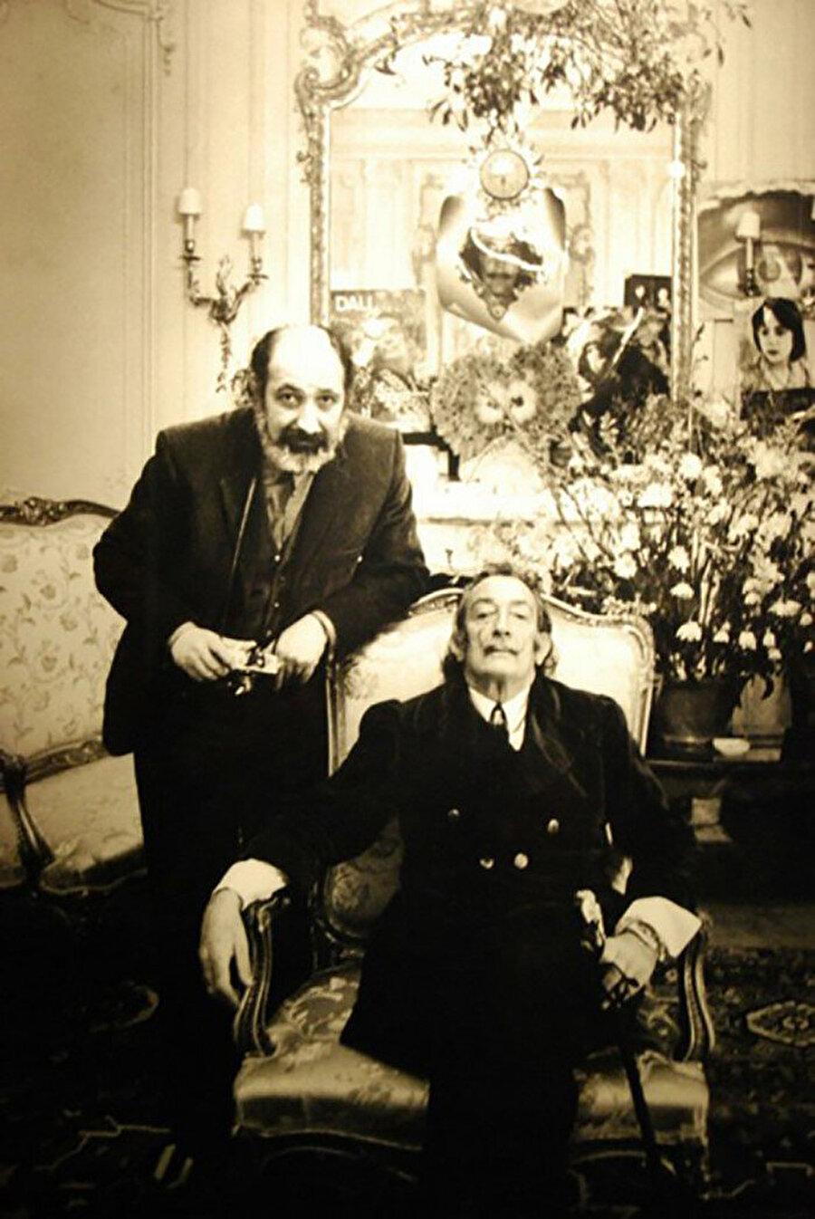 Salvador Dali ve Ara Güler, 1971.