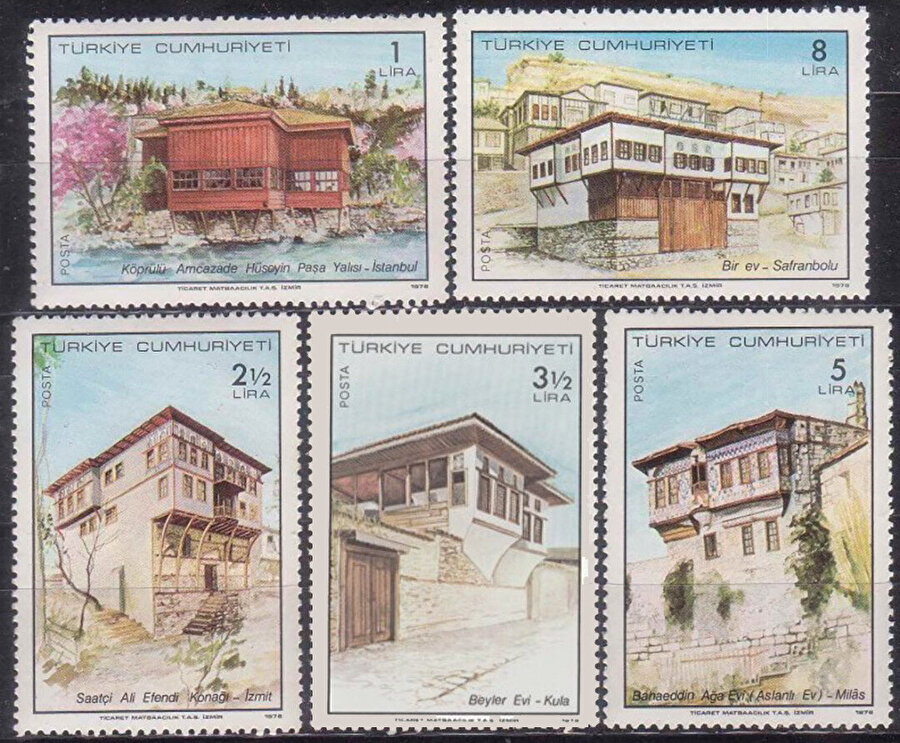 """1978 yılında """"Geleneksel Türk Evleri 1978"""" konulu beş değerli Anma Pulları yaptırılmış. Pullardaki tüm evlerde cumbaları okumak mümkün."""