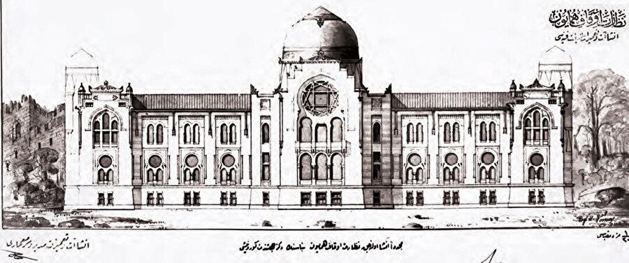 İstanbul Evkaf Nezareti için tasarladığı yapı projesi, gerçekleştirilmemiş.