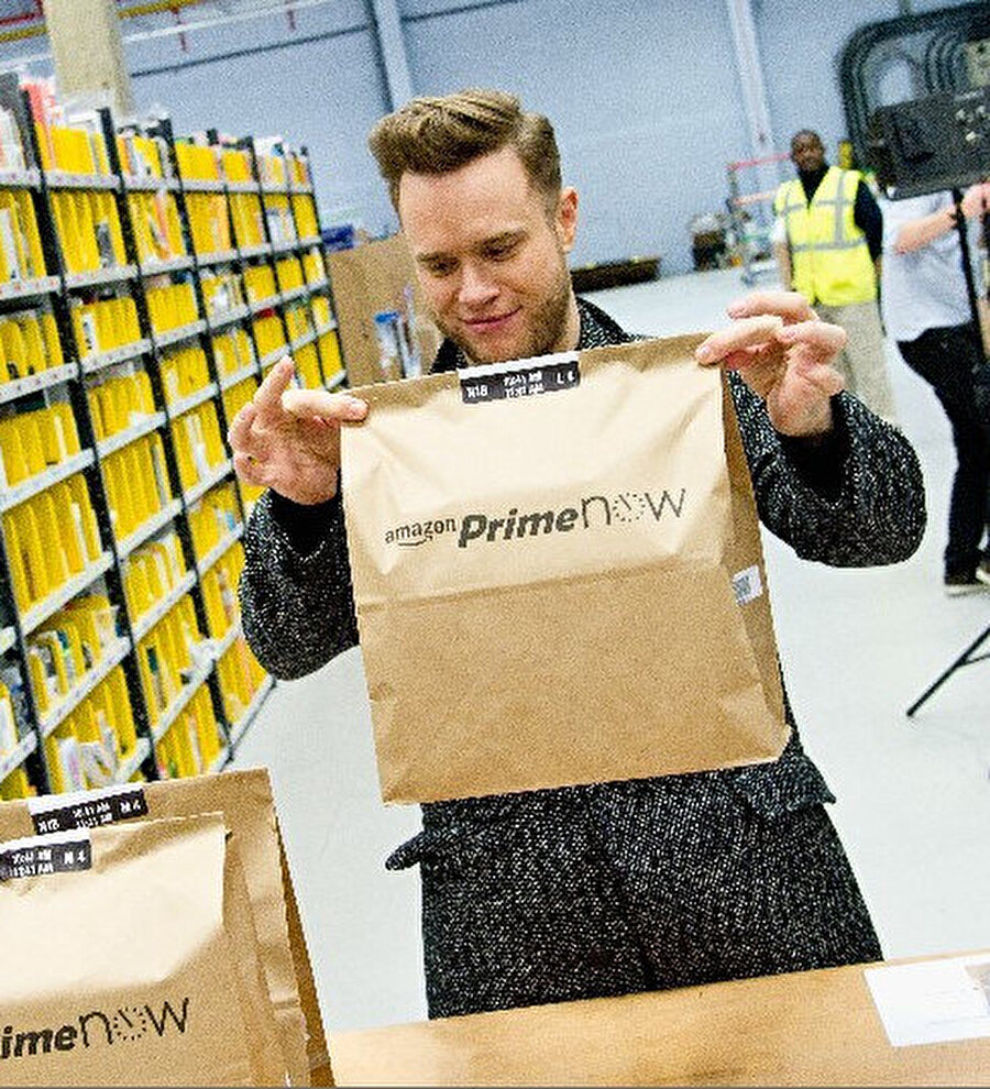 Amazon One kapsamında mağazadan alınan ürünler doğrudan çıkışta avuç içi taratılarak satın alınabiliyor.
