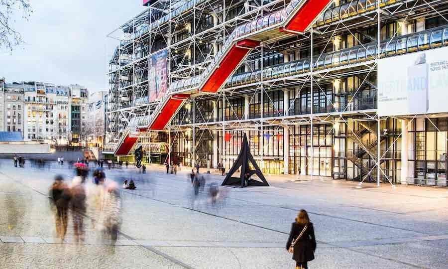 Centre Pompidou, 1971, Fransa-Paris.