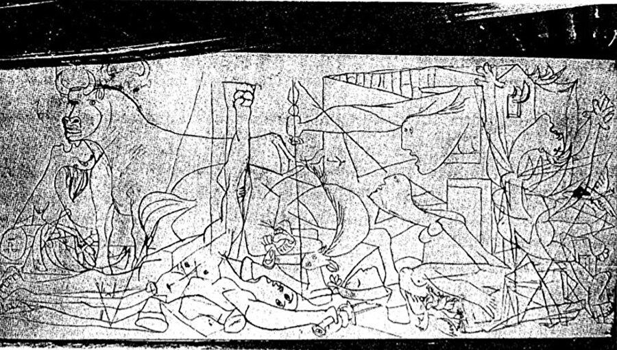 Guernica'nın 1. aşaması.