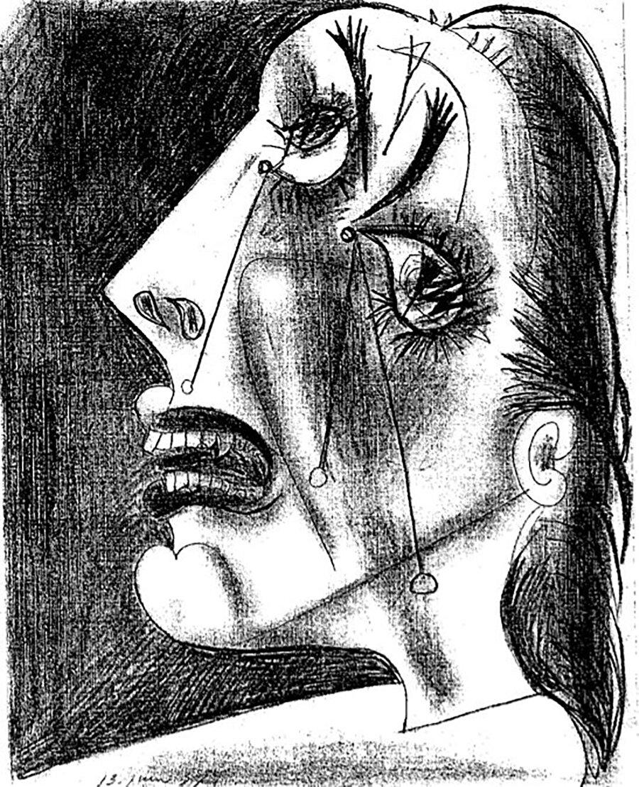 Ağlayan kadın.