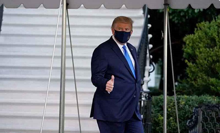 Trump, hasteneye giderken böyle görüntülenmişti