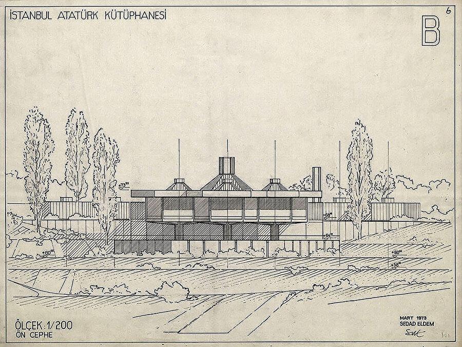 Mart 1973, ön cephe çizimi.