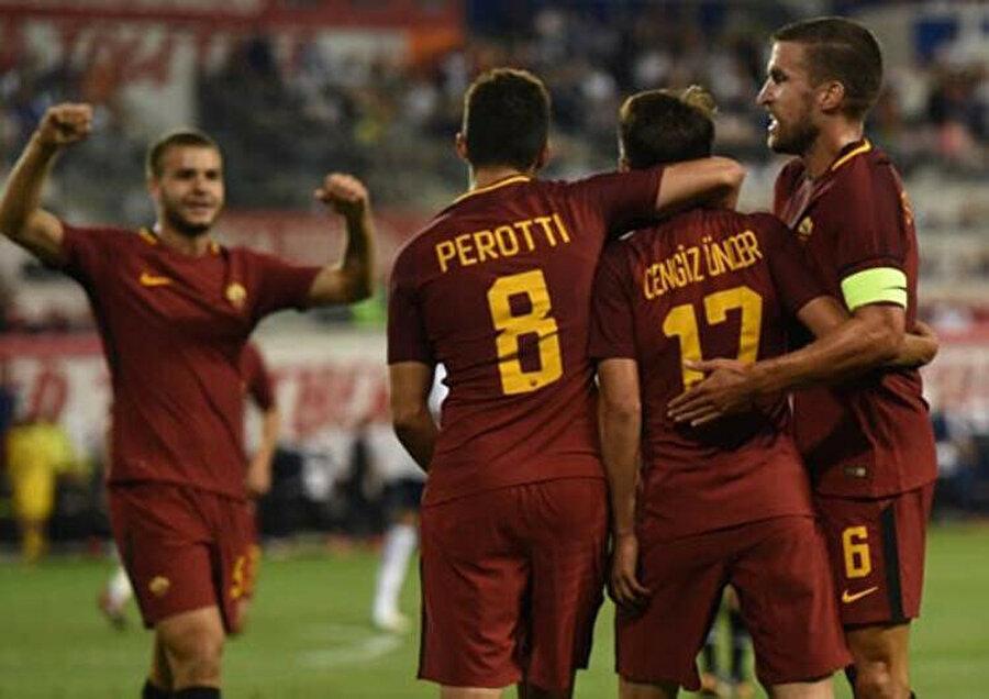 Diego Perotti ve Cengiz Ünder, Roma'da birlikte forma giydi.
