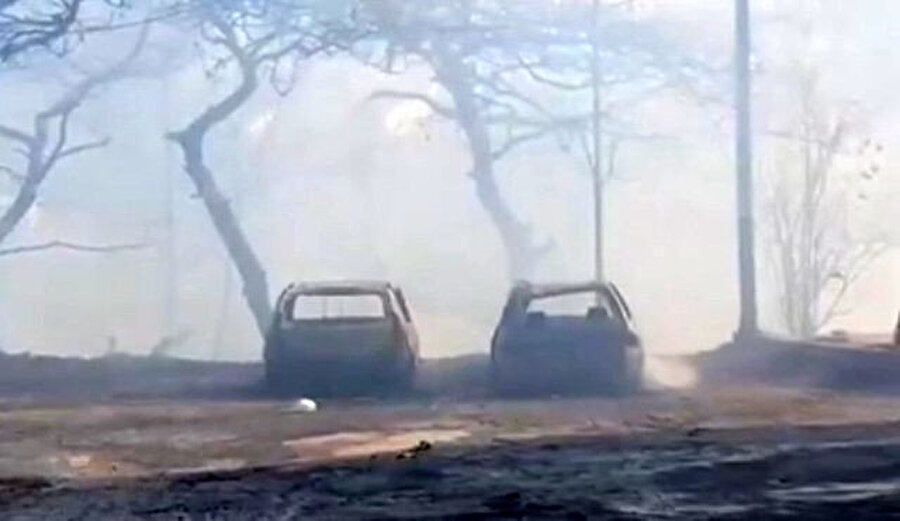 Yangın anından ilk fotoğraflar