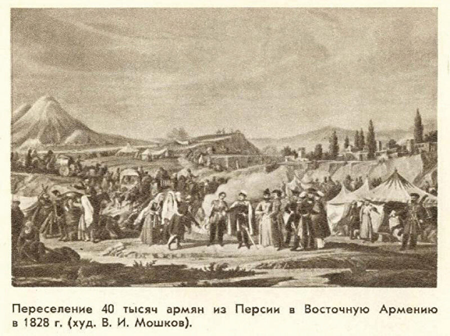 1828. yılında 40 bin İran ermenisi Azerbaycan topraklarına yerleştiriliyor.