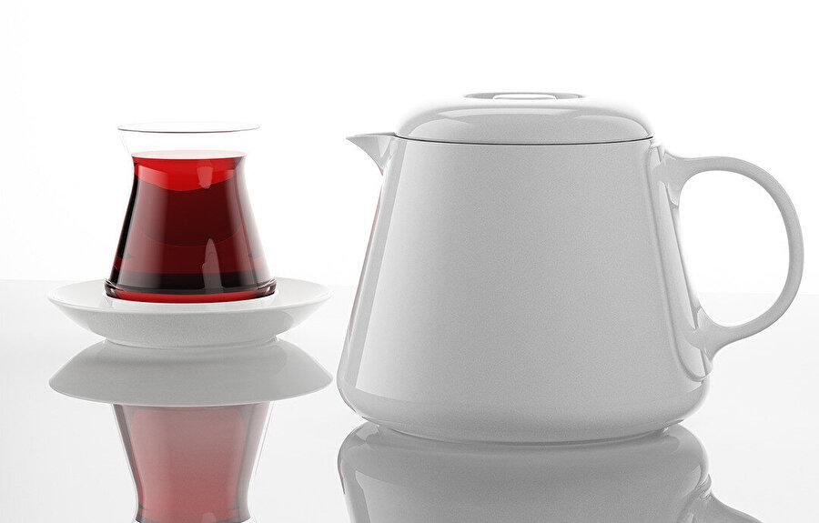 """""""Lipton Tea"""", Lipton Türkiye, 2009 yılında Defne Koz'dan Türk çay bardağı ikonunu yeniden hayal etmesini istedi."""