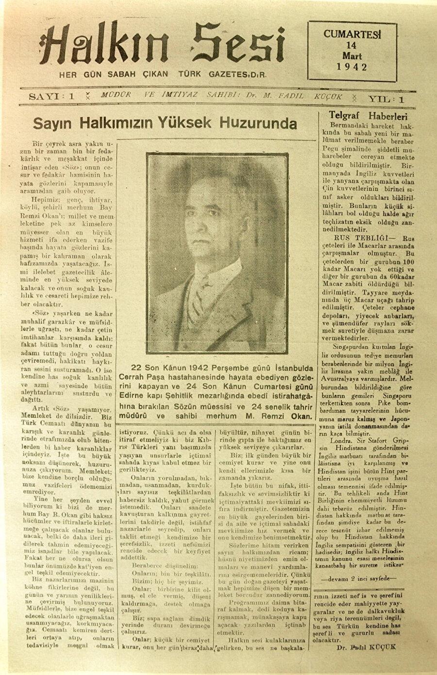Kıbrıs Türk tarihini sayfaları arasında belgeleyen ve halkın aynası olan 'Halkın sesi' gazetesi.