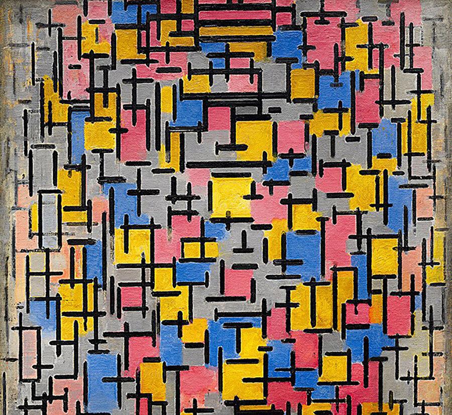 """Composition"" (1916), De Stijl etkisi oluşurken."