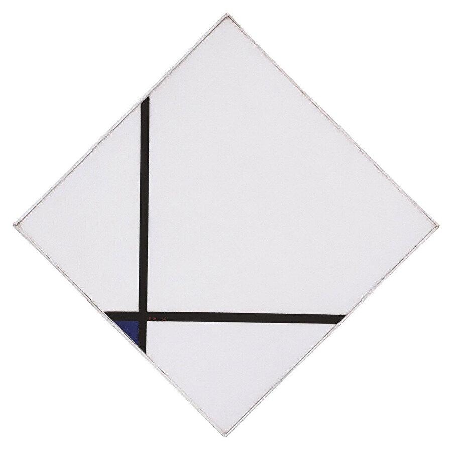Mondrian'ın resimleri ilk bakışta göründüğü gibi mükemmel düz renklerden oluşmuyor.