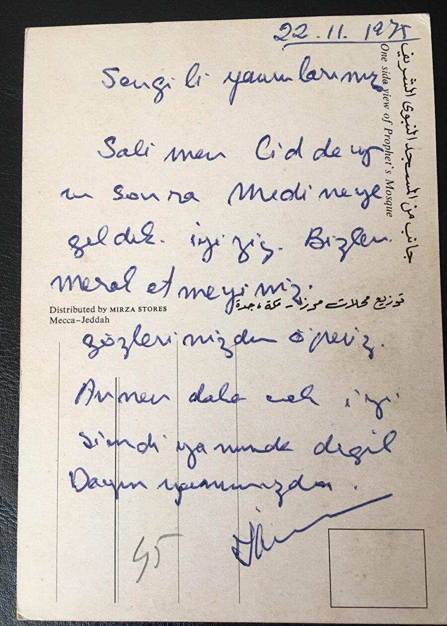 Hac'dan gönderilmiş bir kartpostal