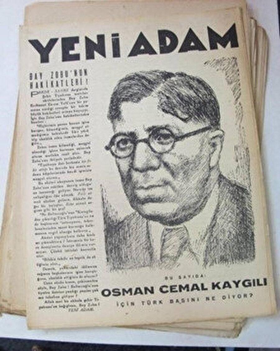 Yeni Adam dergisinin Osman Cemal kapağı