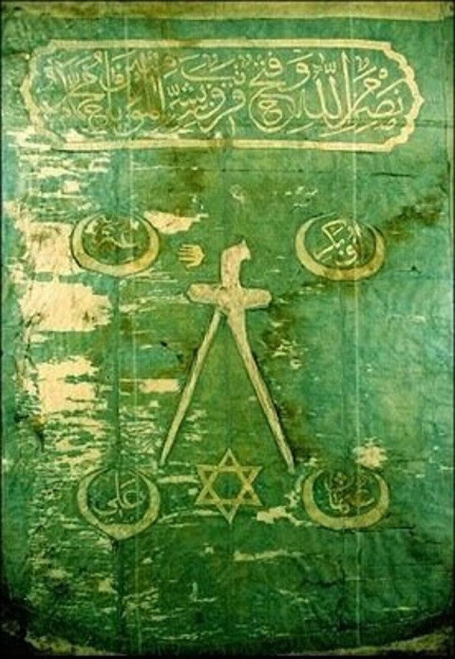 Barbaros Hayreddin Paşa'nın sancağında kullanılan altı köşeli yıldız.