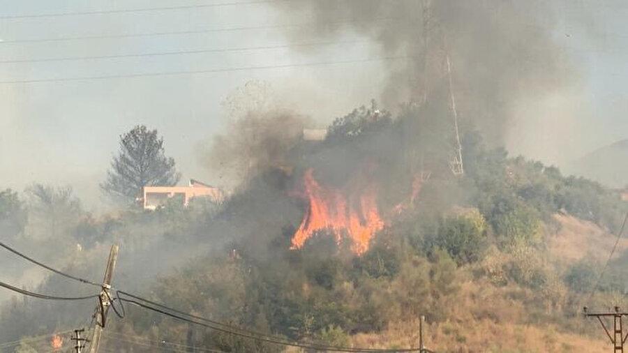 Yangın yerleşim alanlarına sıçradı