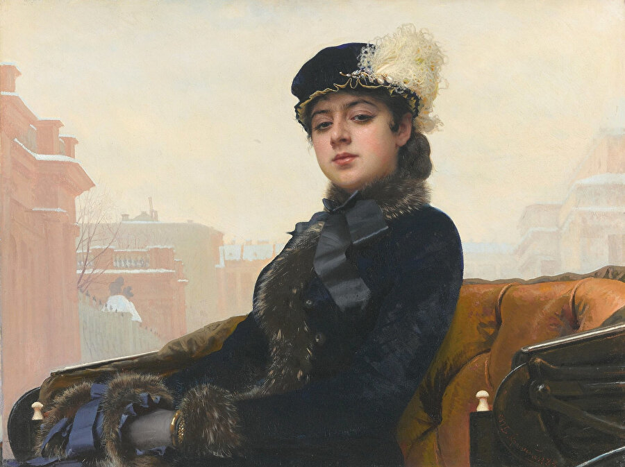 Bir Kadının Portresi (Kramskoi, 1883)