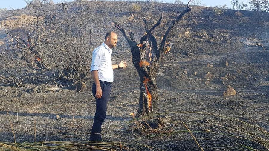 Yangın bölgesinden fotoğraflar