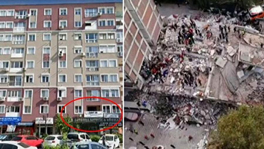 Kırmızı ile işaretlenen bölüm 'bomba kat' olarak nitelendiriliyor