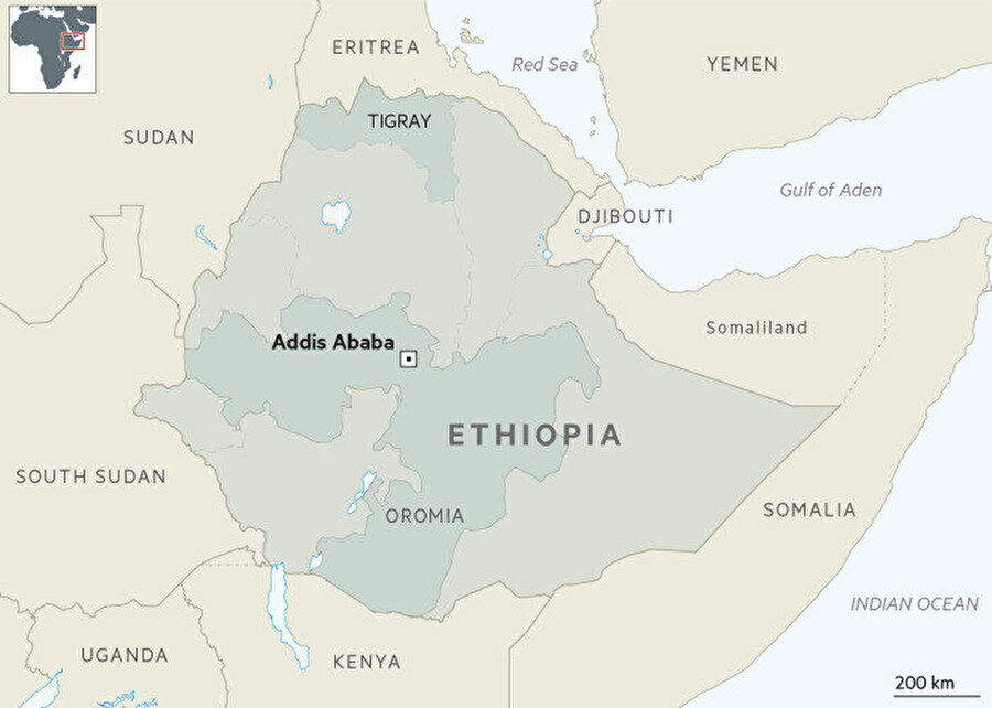 Etiyopya Bakanlar Kurulu, Tigray eyaletinde 6 aylık OHAL ilan etmişti.