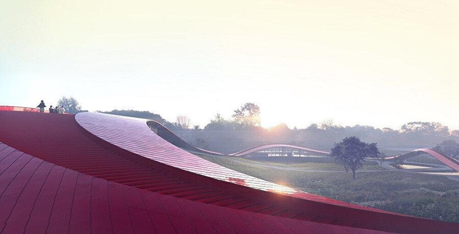 Gün batımından bir görsel.