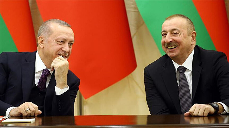 Aliyev, Türkiye Cumhurbaşkanı Recep Tayyip Erdoğan'a, çatışmalar süresince verdiği destek dolayısıyla teşekkür etti.