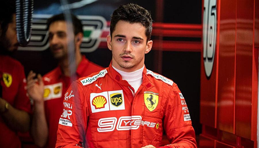 Ferrari'nin 23 yaşındaki pilotu Charles Leclerc