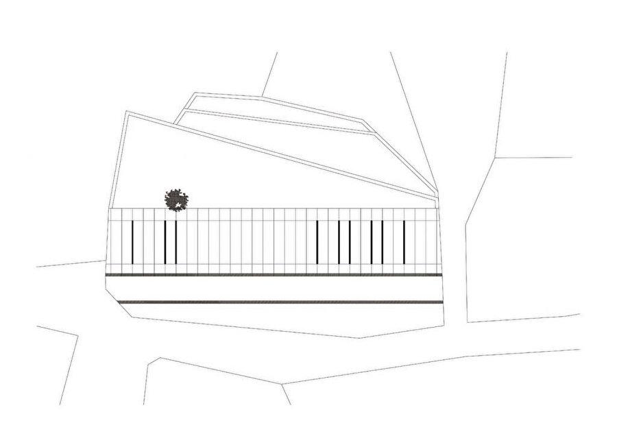 SM Evi çatı planı.
