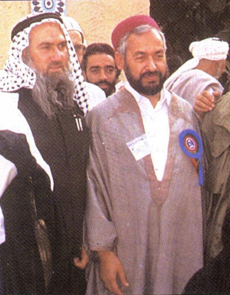 Abdullah Azzâm ve Nahda Hareketi Lideri Râşid Gannûşî.