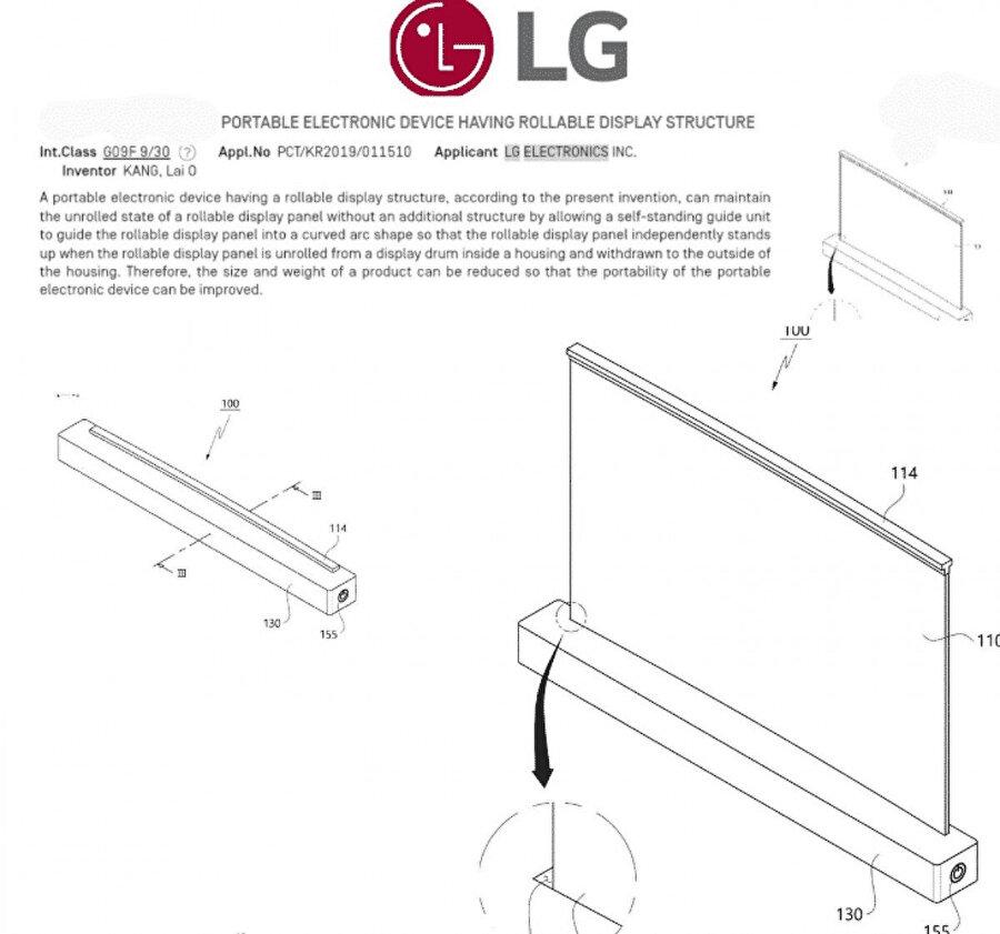 LG'nin yeni patenti, kıvrılabilir ekranlı dizüstü bilgisayarı gösteriyor.
