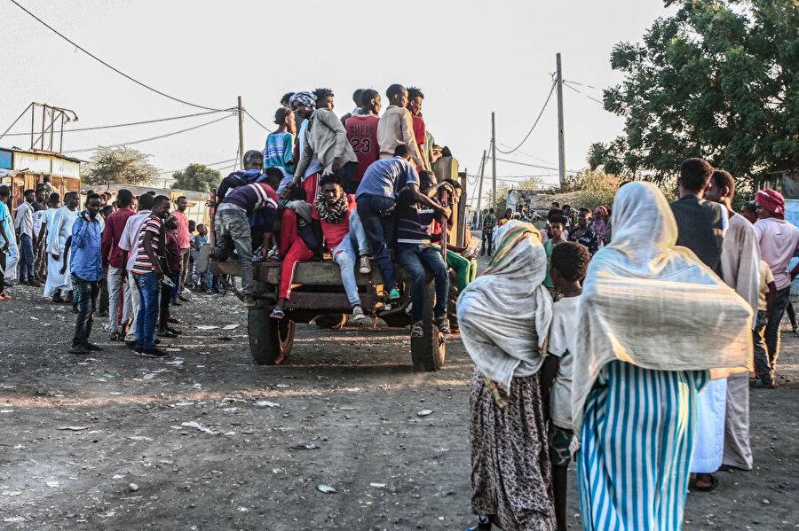 Etiyopya sınırından Sudan'a geçenlerin sayısı 40 bini aştı.