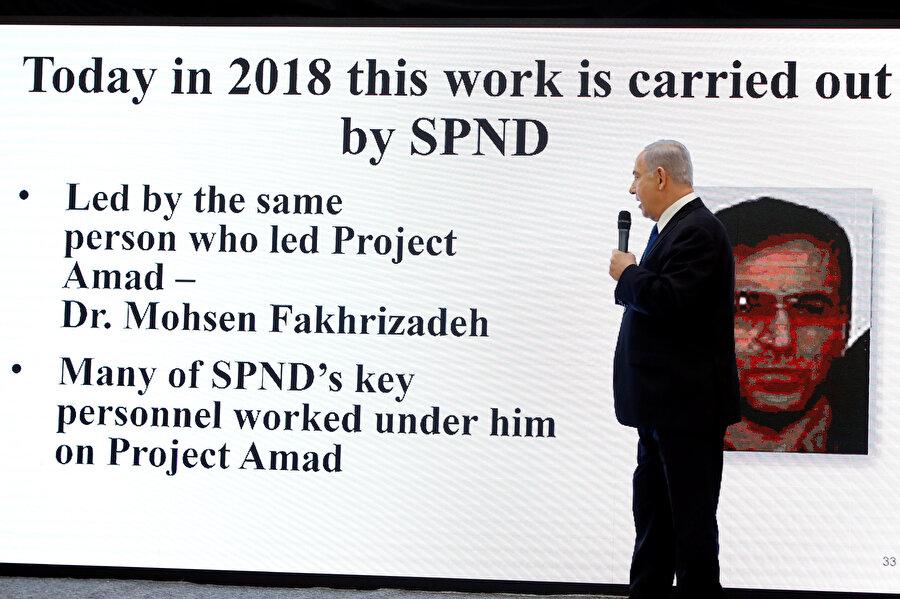 Netanyahu, Nisan 2018'de Muhsin Fahrizade'nin adını özellikle belirtmişti.