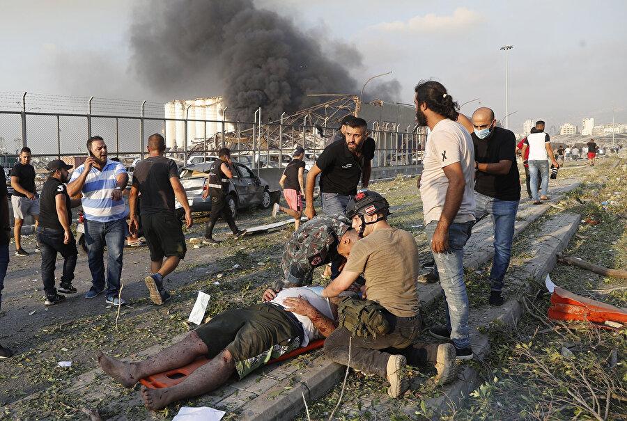 190'nı aşkın kişinin ölmesine, 6 binden fazla kişinin yaralanmasına yol açan Beyrut Limanı patlaması.