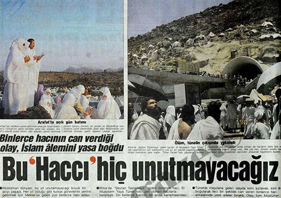 2006'daki hac izdihamı, Türk basınında böyle yer bulmuştu.