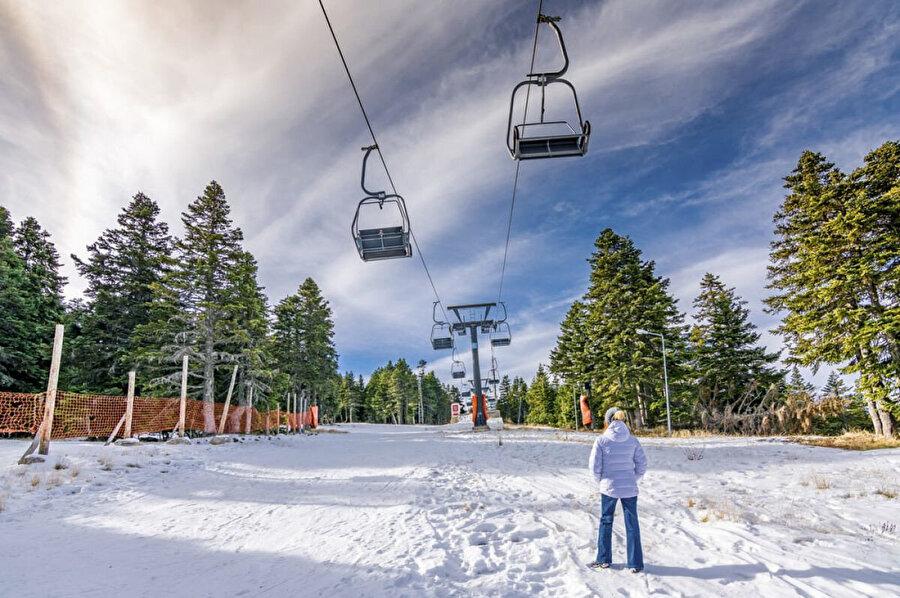 Uludağ, Bursa ili sınırları içinde, 2.543 m yüksekliği ile Türkiye'nin en büyük kış ve doğa sporları merkezi olan dağ.