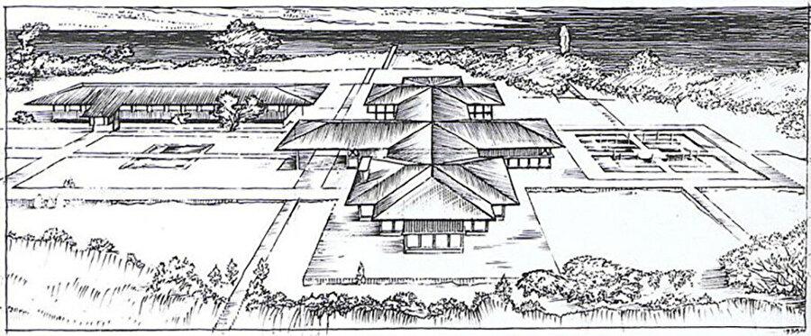 Eldem'in gerçekleşmeyen Büyükada Cumhurbaşkanlığı Köşkü tasarımı, 1935.