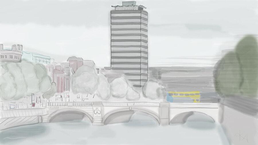 "Hız ve Kent:Dublin ""O'Connell Bridge""."