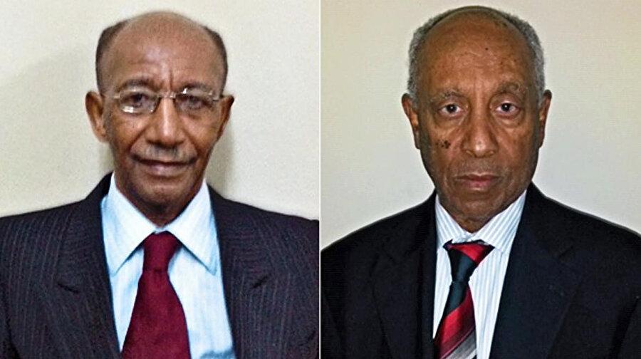 Eski Dışişleri Bakanı Berhanu Bayeh ve eski Genelkurmay Başkanı Addis Tedla - Arşiv