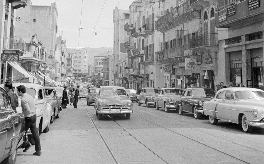 Maluf'un doğduğu yıllarda Beyrut sokakları...