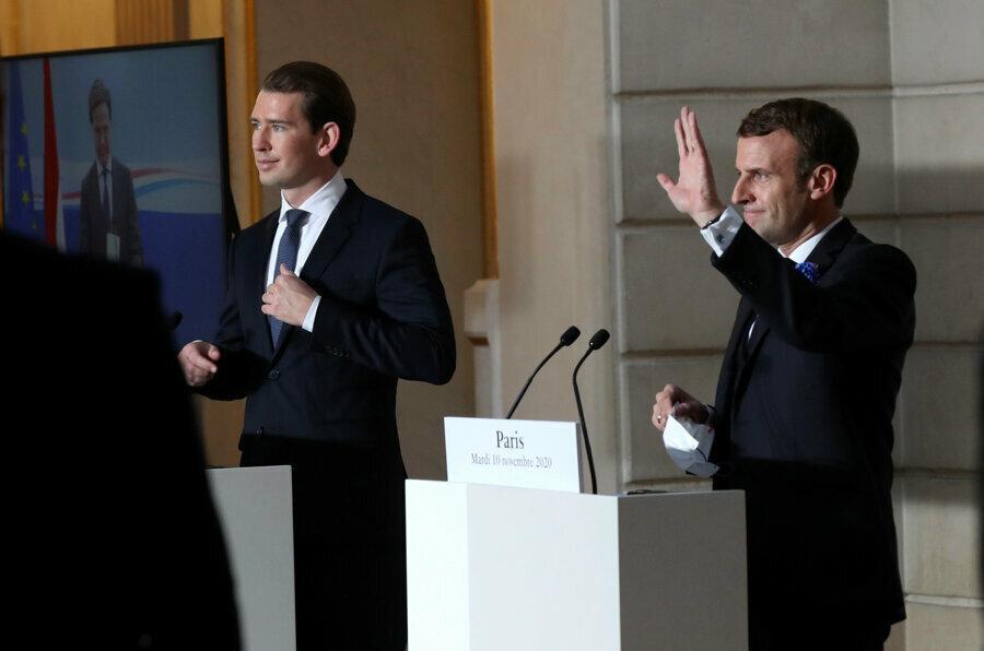 Macron ve Kurz'u birbirlerine daha da yaklaştırırken, ikiliyi Avrupa'da İslam karşıtı kampanyanın görünen aktörleri haline getirdi.