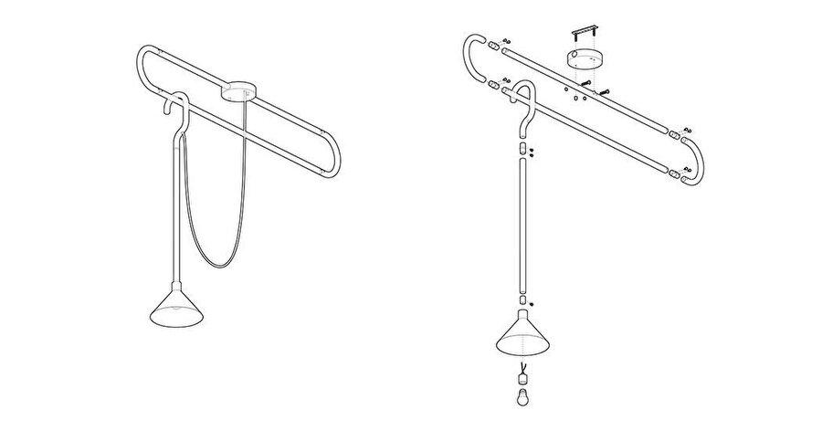 Hook lamba çizim görselleri.