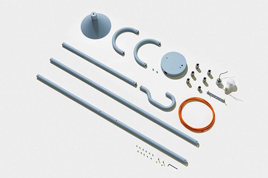 Üretimde pipe banding, lathe processing ve metal spinning yöntemleri kullanılıyor.