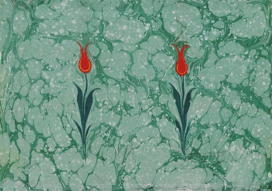 Necmeddin (Çiçek) Ebruları.